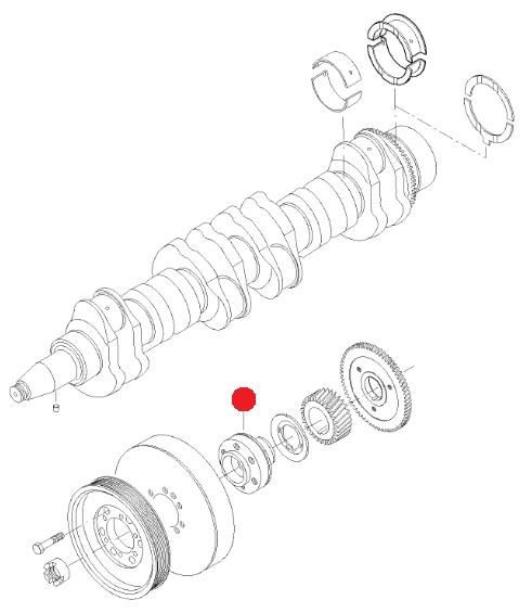 Ступица шкива коленвала (T194A/H/V Valtra)