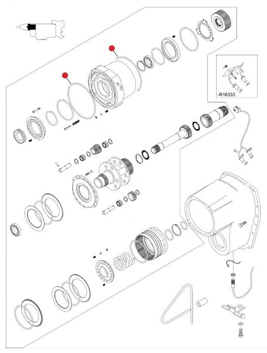 Кольцо 222-228-30 O-RING уплотнит/ резин. (Valtra T190,T193H)