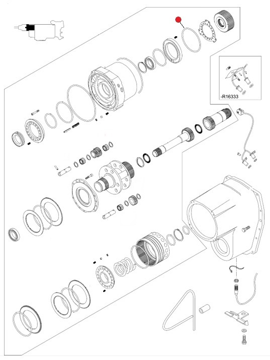 Кольцо 165-170-30 O-RING уплотнит. резин. (Valtra T190,T193H)