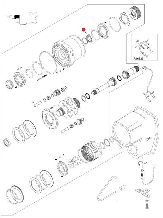 Подшипник 55х90х18 шариковый (Valtra T190,T193H)
