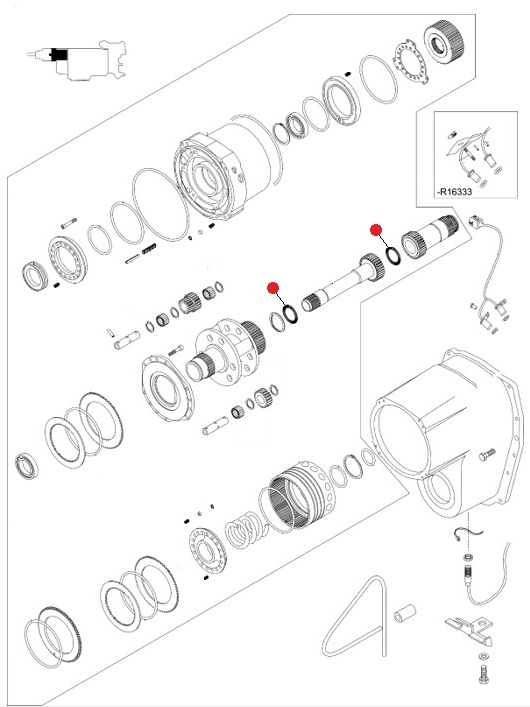 Кольцо 45х65х3 (Valtra T190,T193H)